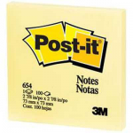 Post it 76mm x 76mm giallo 654ge   32022