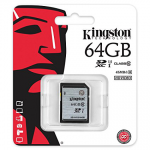 Kingston flash card sd 64gb c10 v g2 sd10vg2/64gb