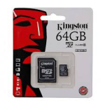 Kingston flash card micro-sd 64gb c10 sdc10g2/64gb