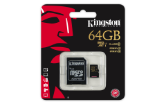Kingston flash card micro-sd64gb c10�sdca106/4gb